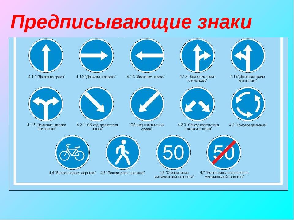 дорожные знаки для водителей в картинках предписывающие сделать лунный