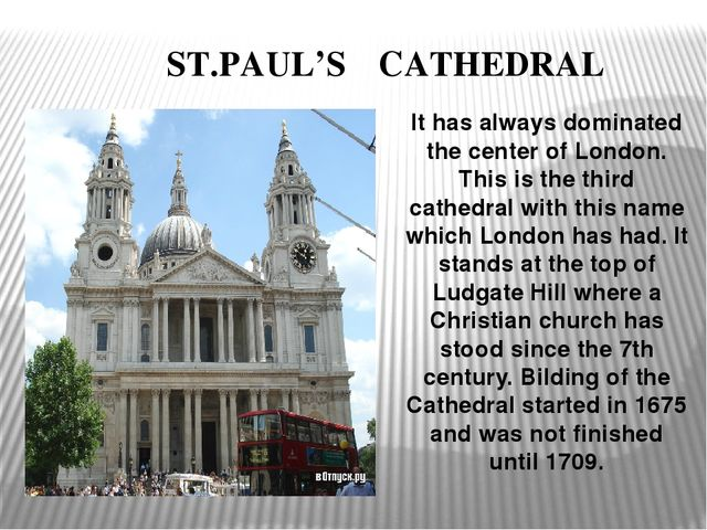 ST.PAUL'S CATHEDRAL It has always dominated the center of London. This is t...