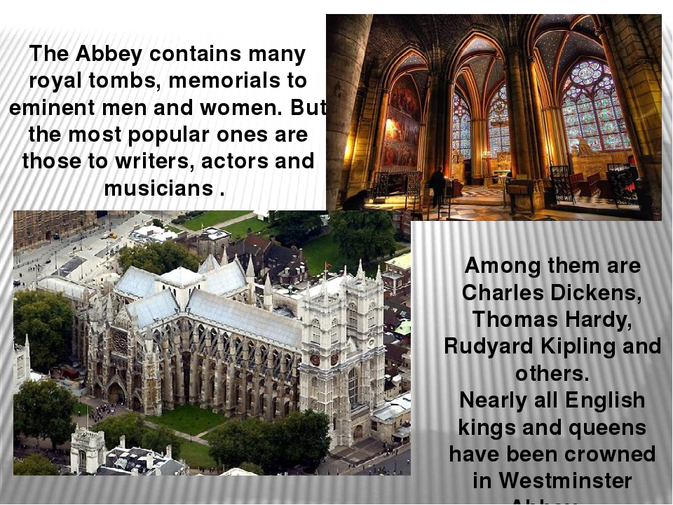The Abbey contains many royal tombs, memorials to eminent men and women. But...