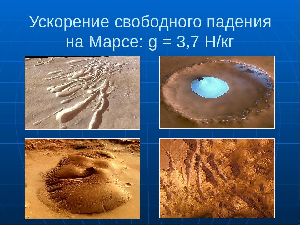 Имя ускорение свободного падения на марсе счастлив