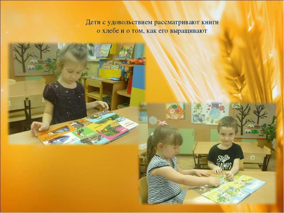 Дети с удовольствием рассматривают книги о хлебе и о том, как его выращивают