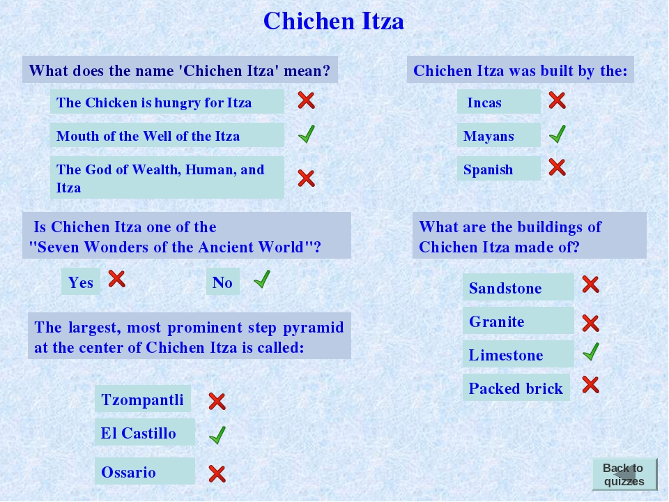 Chichen Itza What does the name 'Chichen Itza' mean? The Chicken is hungry fo...