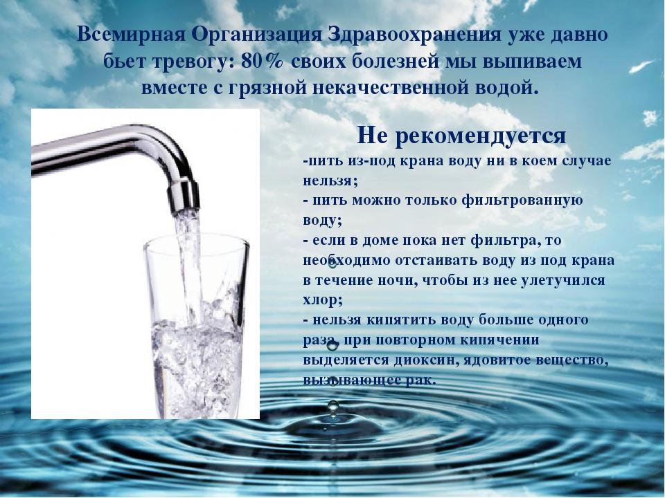 рисунок пить кипяченую воду месте рождения давал