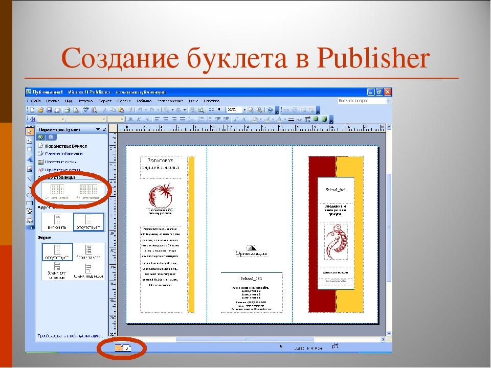 скачать программу для создания буклетов publisher