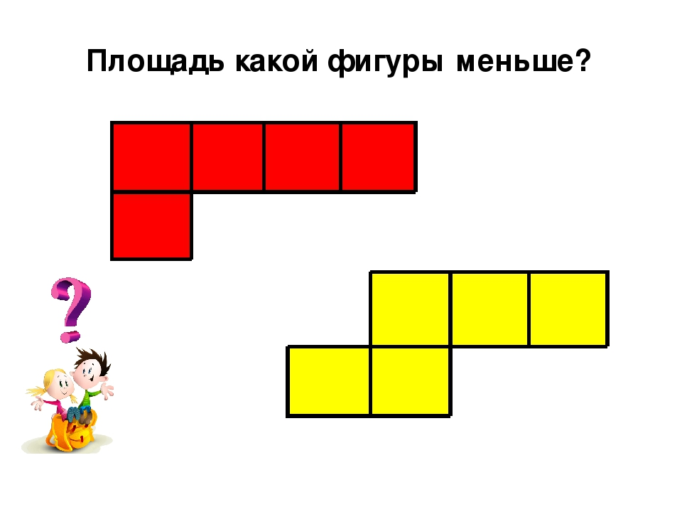 Площадь какой фигуры меньше?