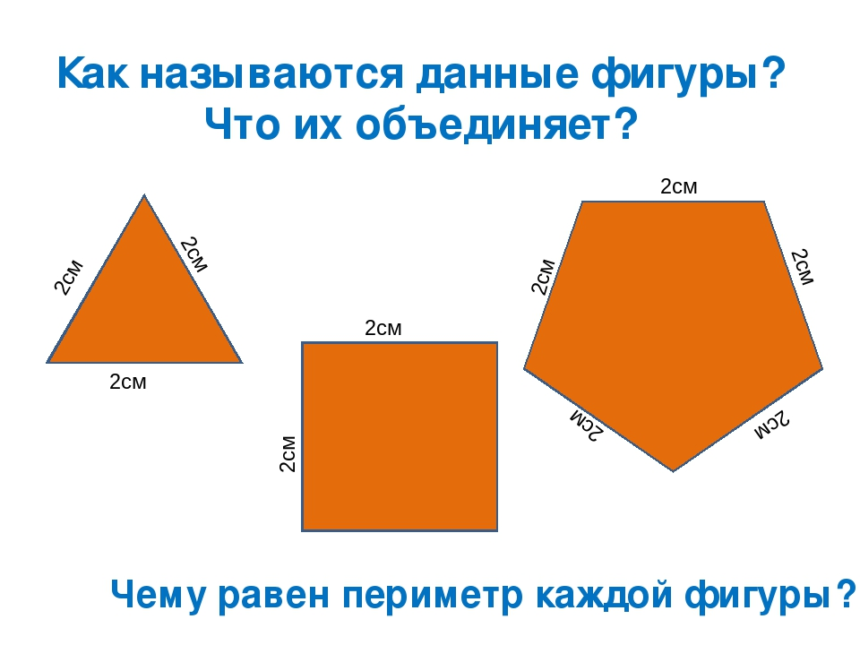 Как называются данные фигуры? Что их объединяет? 2см 2см 2см 2см 2см 2см 2см...