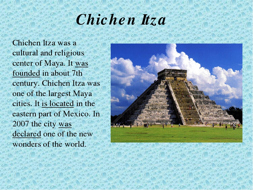 an analysis of the chichen itza Chichen itza, in yucatan, mexico, has a pyramid of quetzalcoatl called the temple of kukulkan by the maya and el castilo by the spanish.