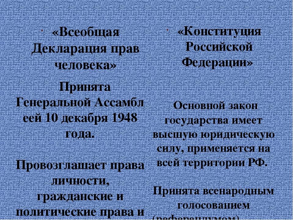 высшая декларация прав человека
