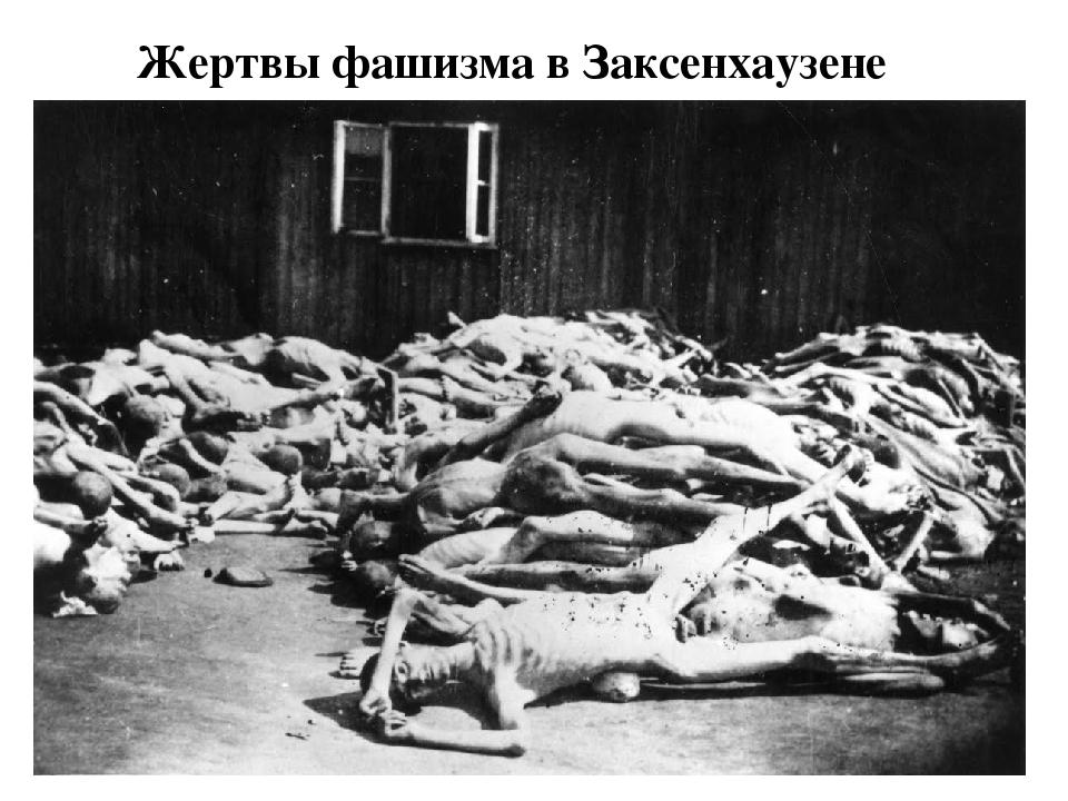 Жертвы фашизма в Заксенхаузене