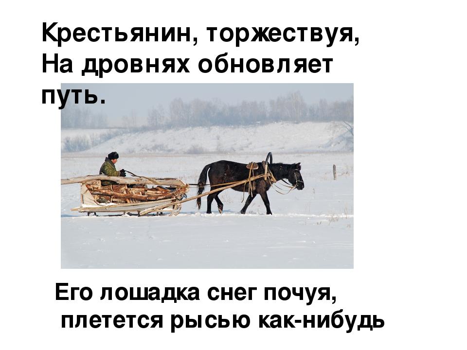 зима картинки крестьянин стих охота балансир