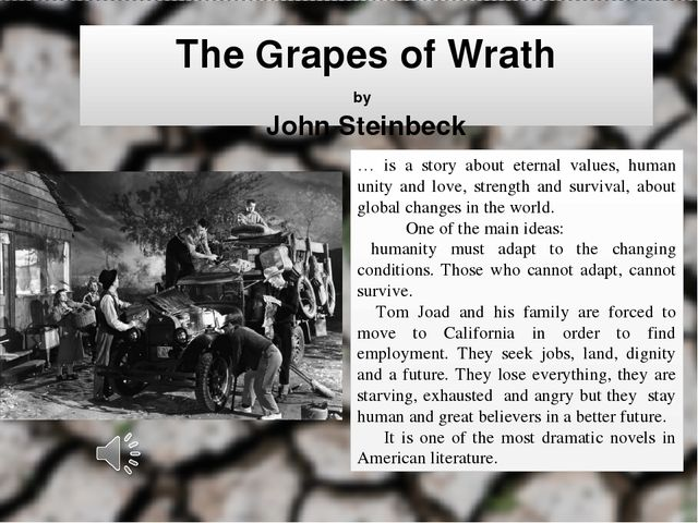 machinery vs human characteristics in grapes of wrath essay More essay examples on henry fonda rubric he believed that commerce was nothing but cheating, that everybody, with no exceptions, was driven by an external force created by humanity itself, an external force which alienated men, but, however, would never end with their hopes and faith.