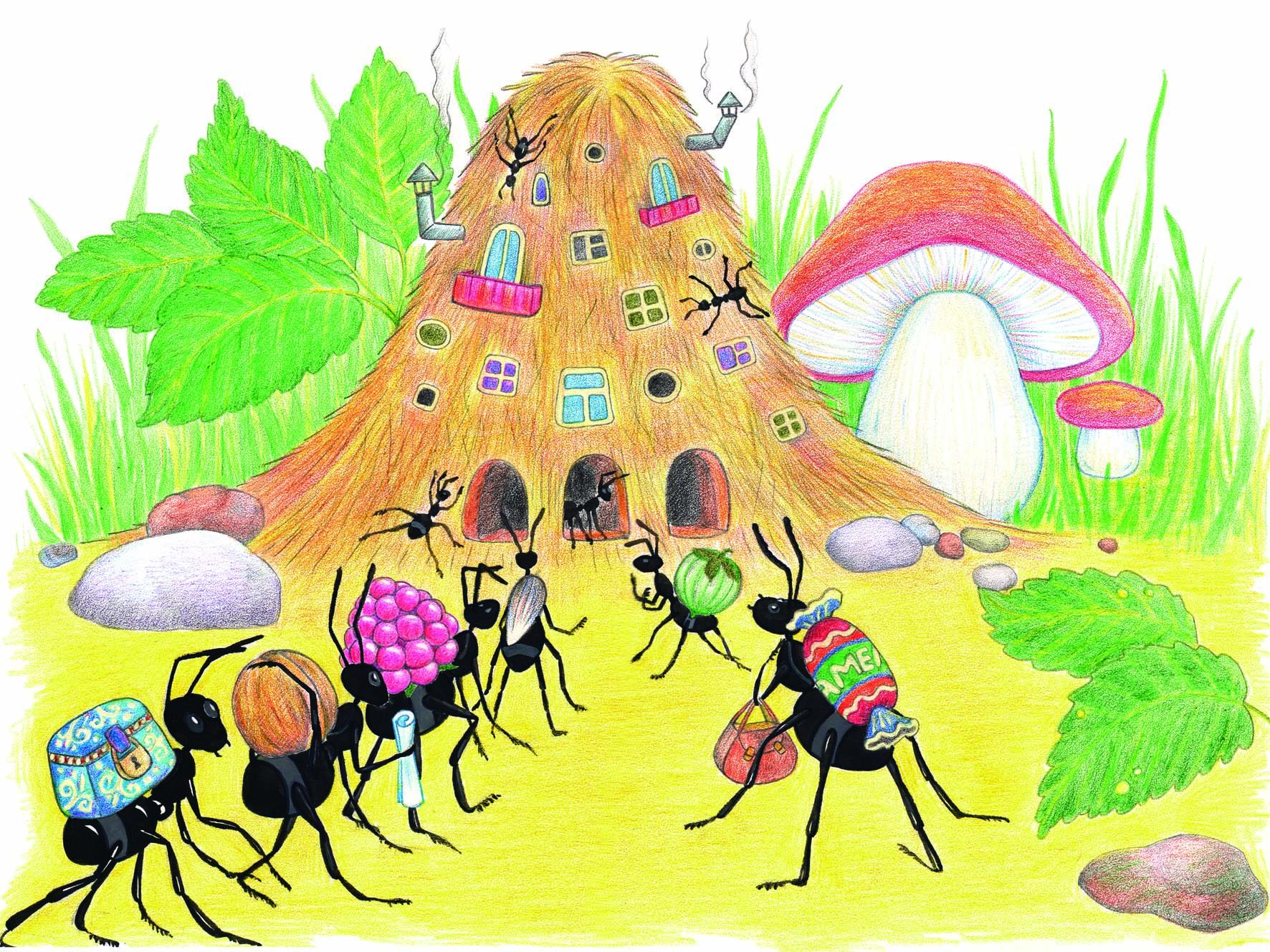Картинки муравейника для детей, нарциссами картинки