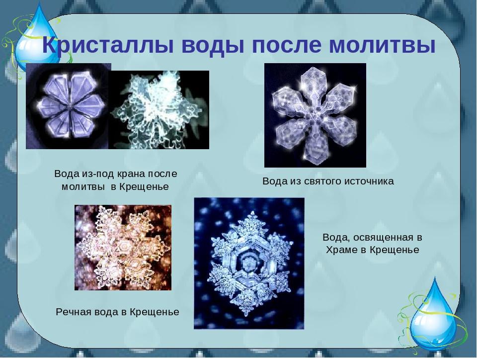 показан кристаллы воды после молитвы фото одежды