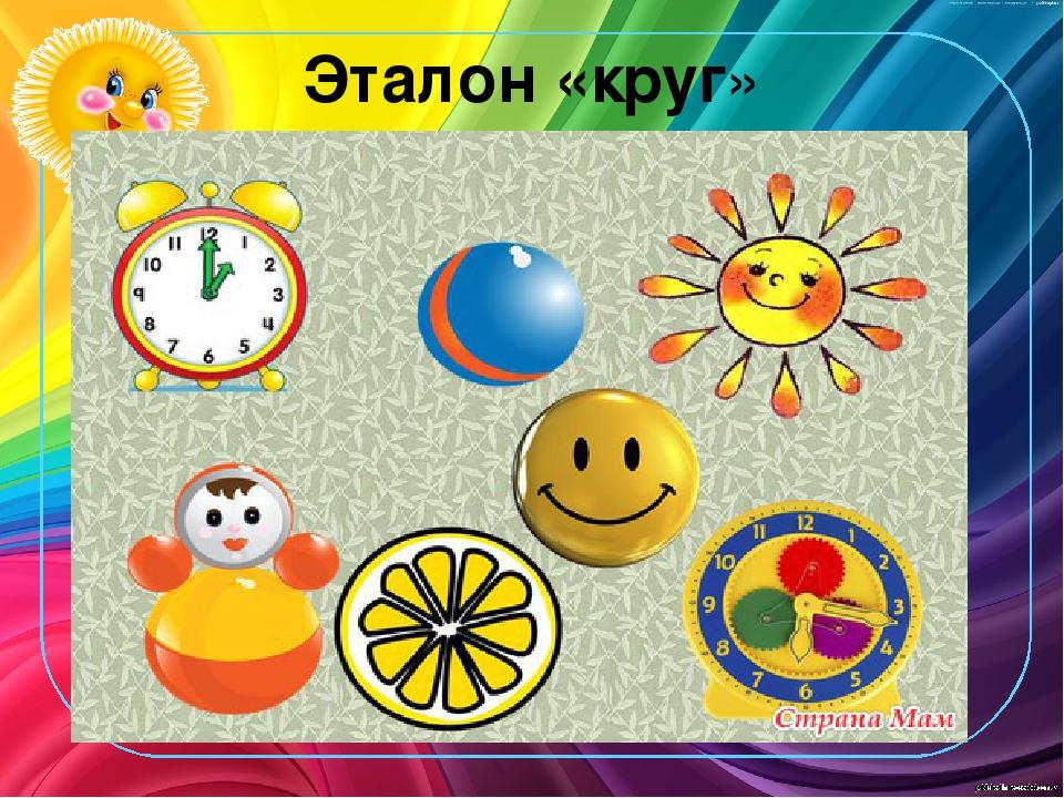 Что бывает круглое картинки для детей