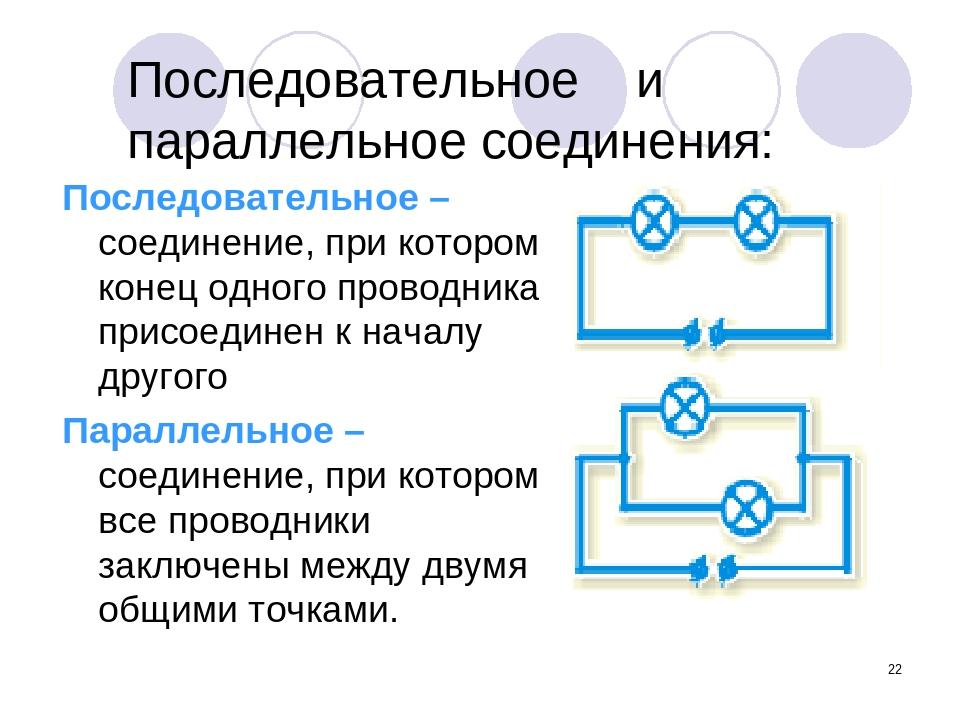 * Последовательное и параллельное соединения: Последовательное – соединение,...