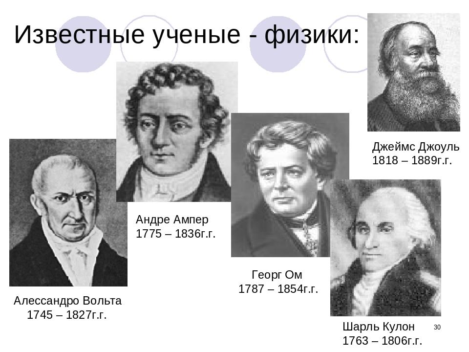 * Известные ученые - физики: Алессандро Вольта 1745 – 1827г.г. Андре Ампер 17...