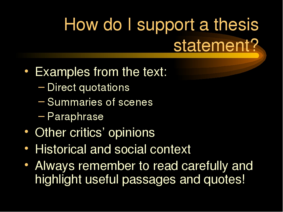 how to do a thesis The thesis focuses your ideas and information for the research paper remember that word focus student writers often make the mistake of forgetting the focus and making the research thesis far too broad in order to include a lot of research.