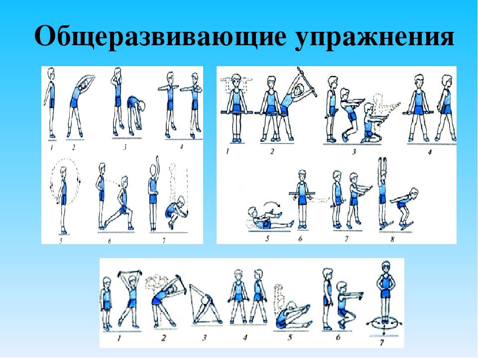 упражнение для урока физкультуры с картинками