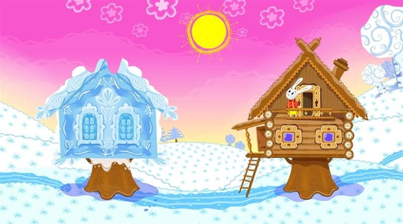 Картинка сказки лубяная избушка