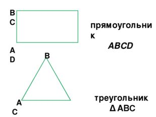 B C A D B A C прямоугольник ABCD треугольник ∆ АВС