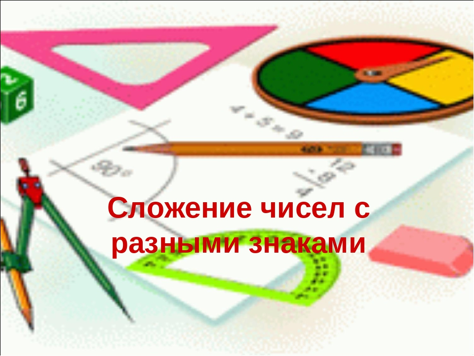 Сложение чисел с разными знаками