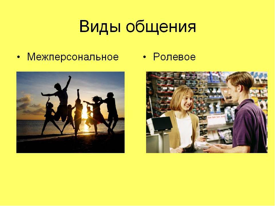 виды общение с картинками