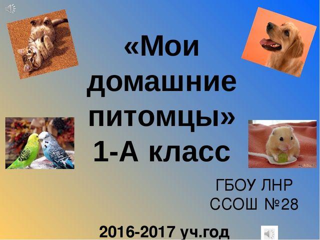 """Презентация по окружающему миру """" Мои домашние питомцы"""" ( 1 класс)"""