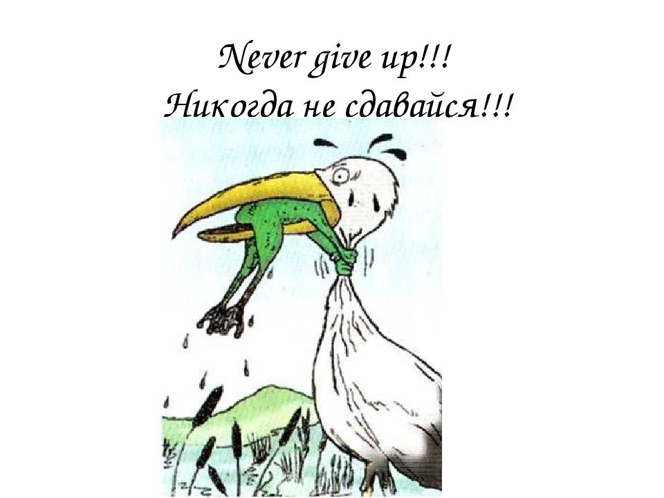 Поздравление никогда не сдавайся