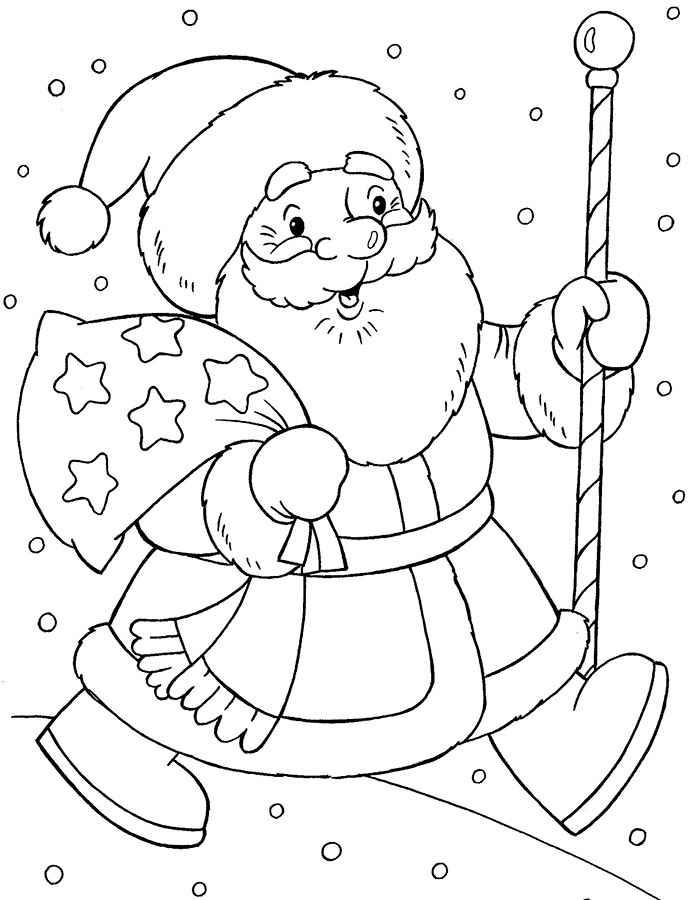 Дед мороз шаблон