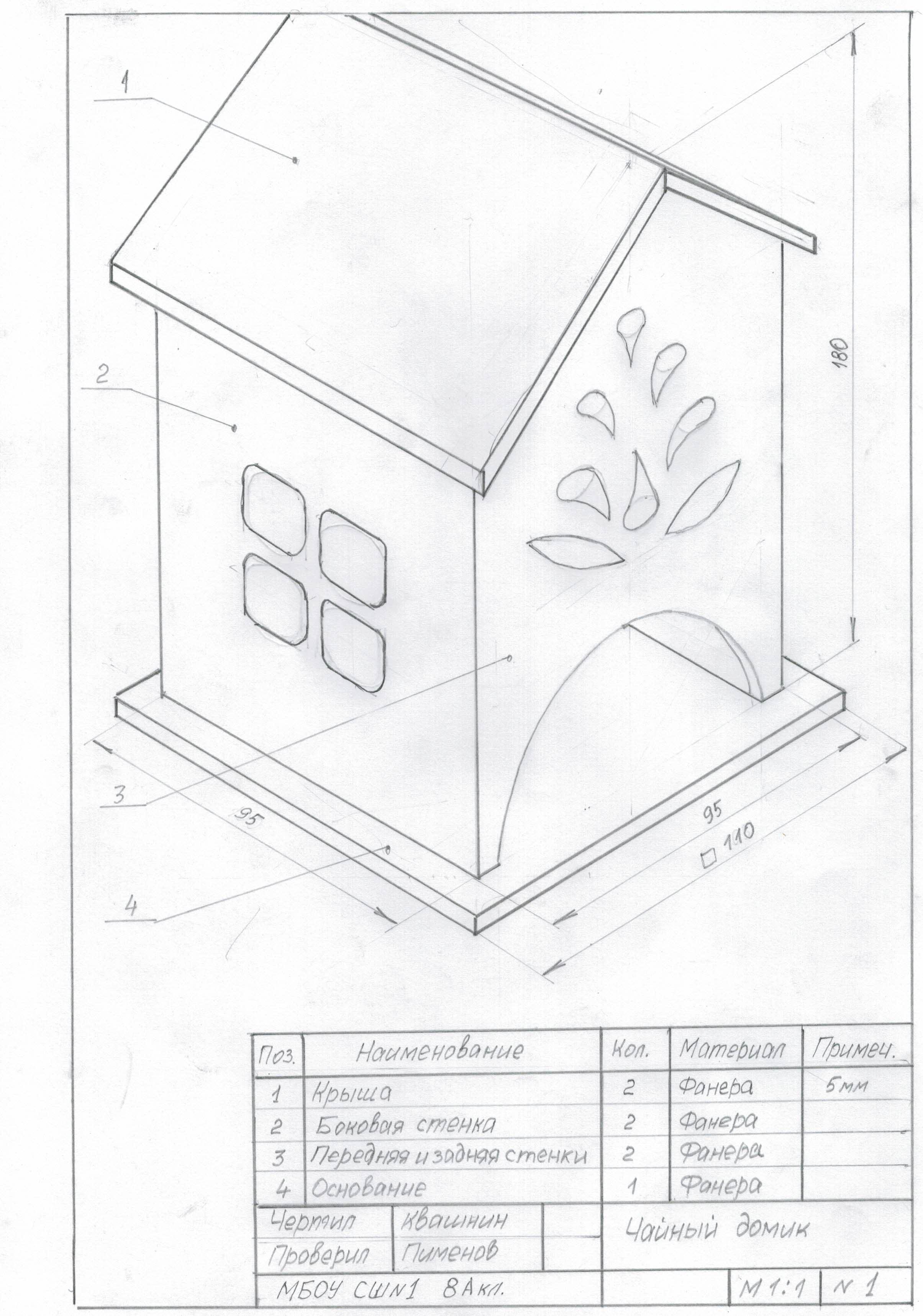 Чайный домик своими руками чертеж фото 134