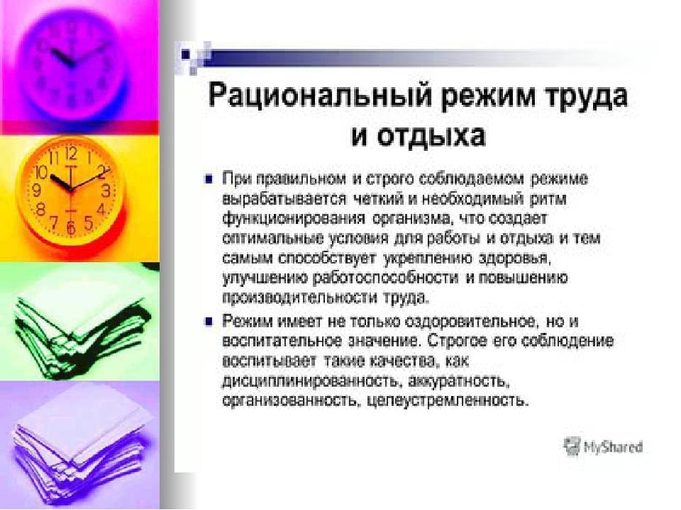 Режимы Труда И Отдыха Шпаргалка