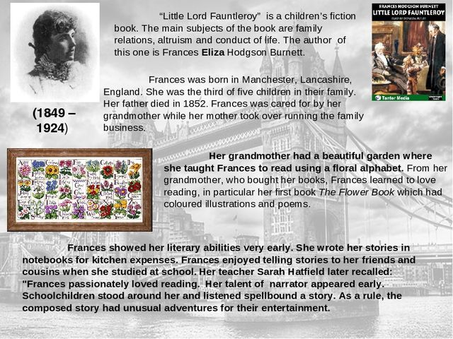 Lessons Of Morality By F Burnetts Book Little Lord Fauntleroy
