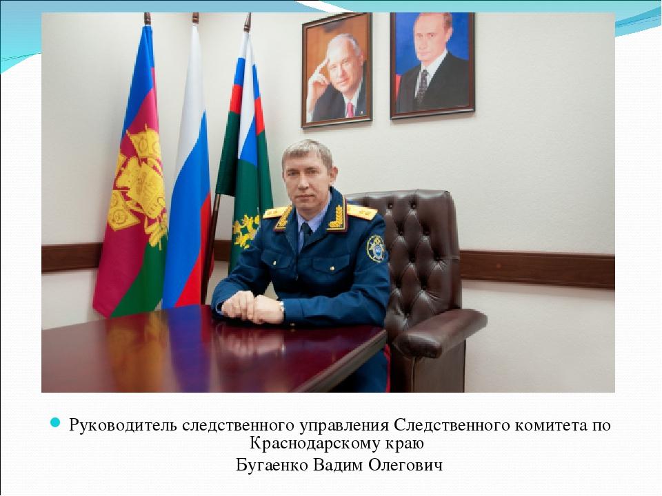 Руководитель следственного управления Следственного комитета по Краснодарском...