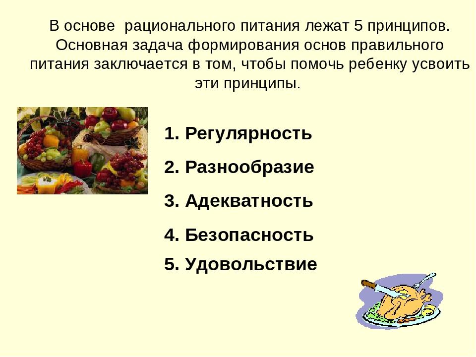 Рациональное питание основные принципы реферат 6851