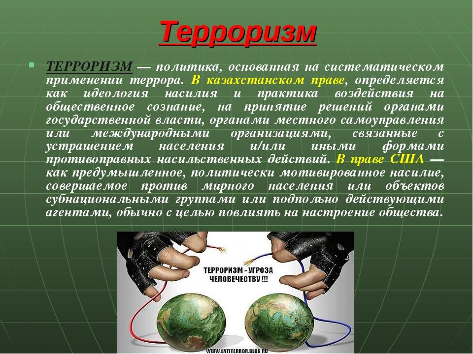 terrorism and society