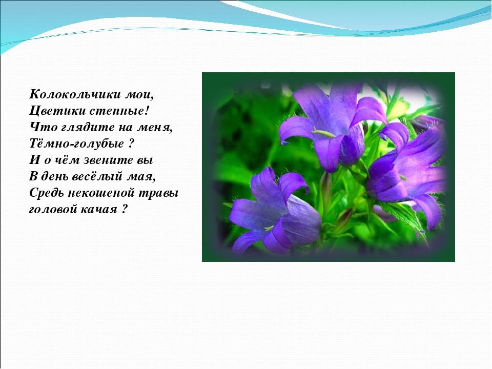 КОЛОКОЛЬЧИКИ МОИ ЦВЕТИКИ СТЕПНЫЕ ПЕСНЯ СКАЧАТЬ БЕСПЛАТНО