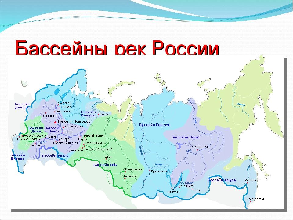 Карта реки россии