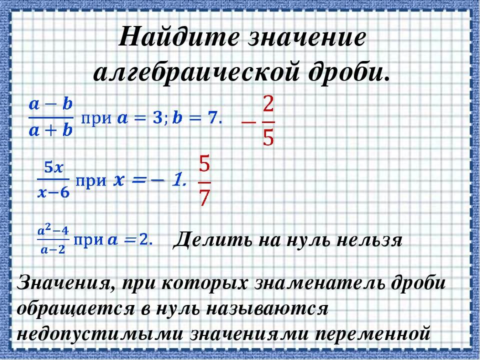 картинки алгебраические дроби кусок