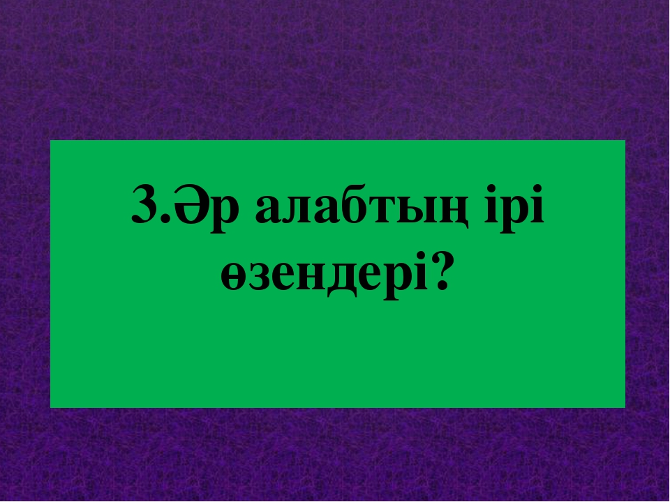 3.Әр алабтың ірі өзендері?