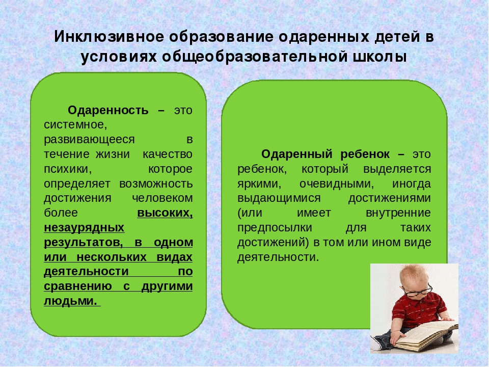 Инклюзивное образование одаренных детей в условиях общеобразовательной школы...