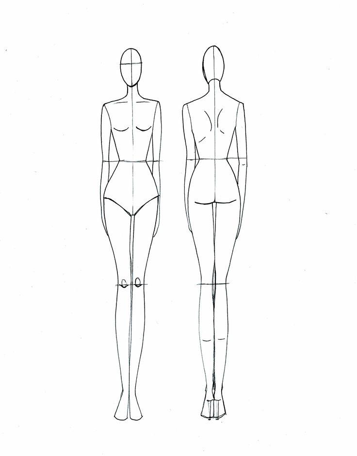Силуэты девушек для рисования одежды