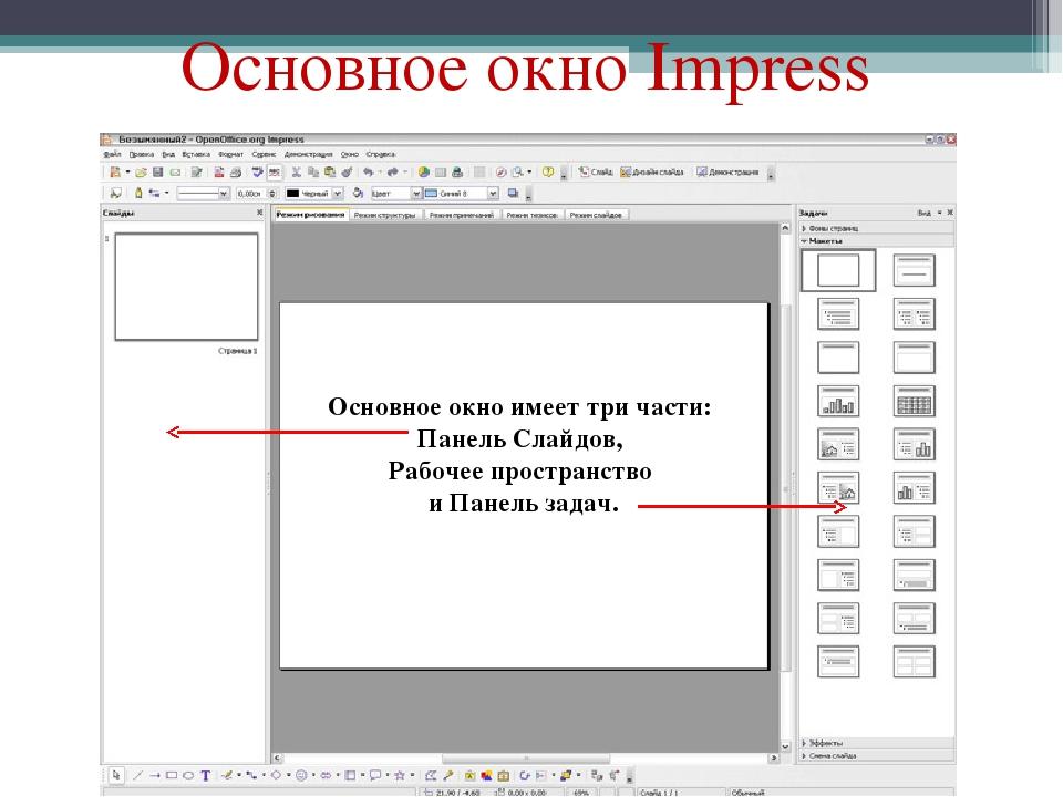 Как сделать презентацию в impress