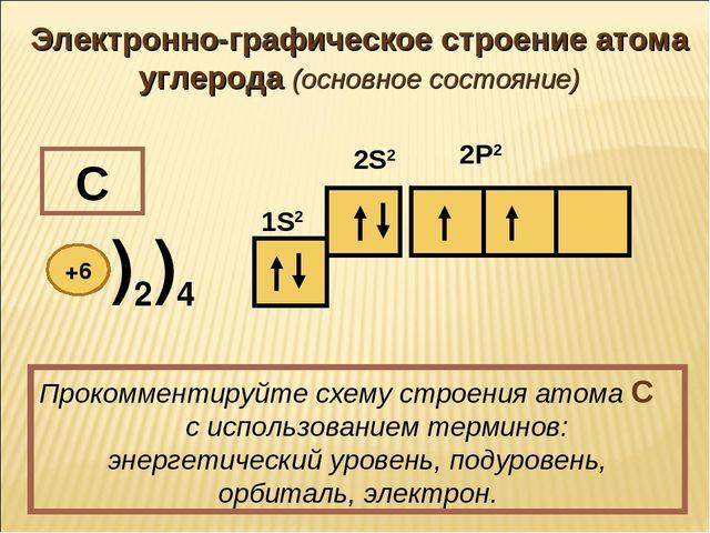 Валентные состояния атома углерода урок презентация