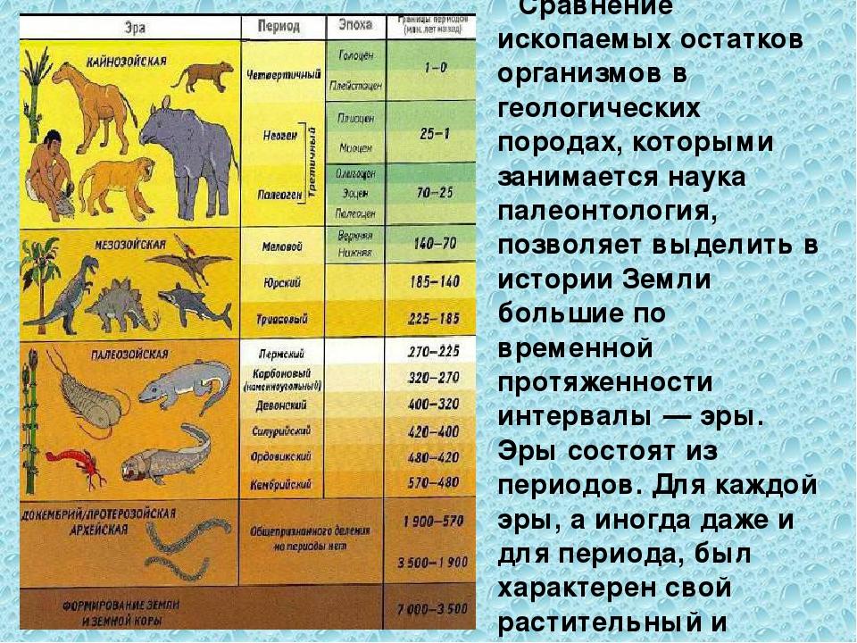 картинки геологические эры рифмованием