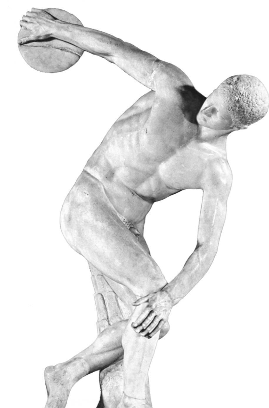 Скульптура дискобол картинки черно-белые