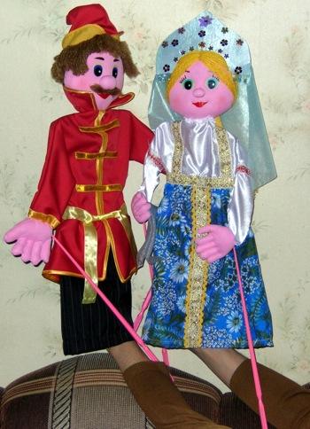 Куклы на тростях для кукольного театра своими руками