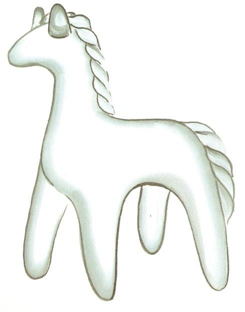 рисунки дымковских игрушек коня краткое описание