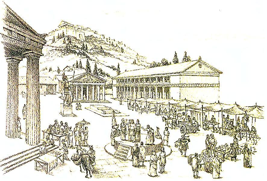 Древняя греция агора картинки