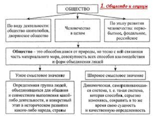 1. Общество и социум