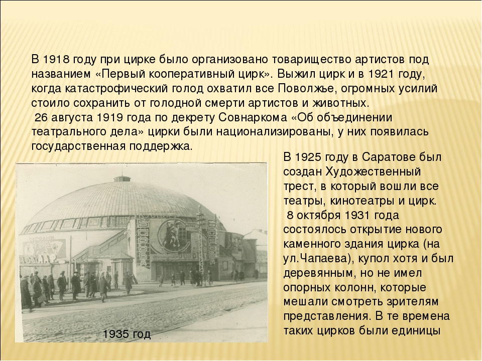 В 1925 году в Саратове был создан Художественный трест, в который вошли все т...